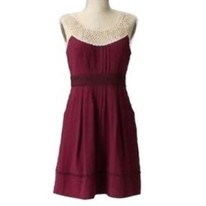 Maroon Floreat dress from Anthropologie